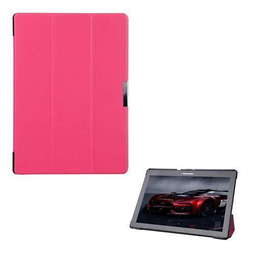 Garff Lenovo Tab 2 A10-70 Leather Case With Stand Hot Pink