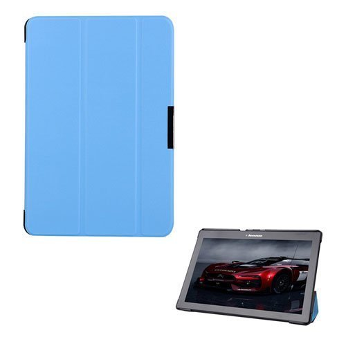 Garff Lenovo Tab 2 A10-70 Leather Case With Stand Light Blue