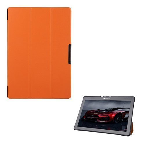 Garff Lenovo Tab 2 A10-70 Leather Case With Stand Orange