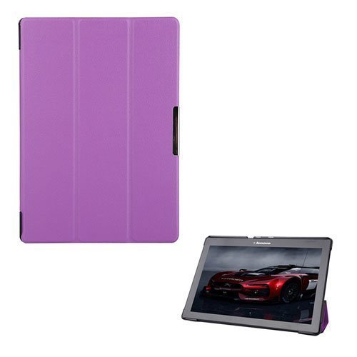 Garff Lenovo Tab 2 A10-70 Leather Case With Stand Purple