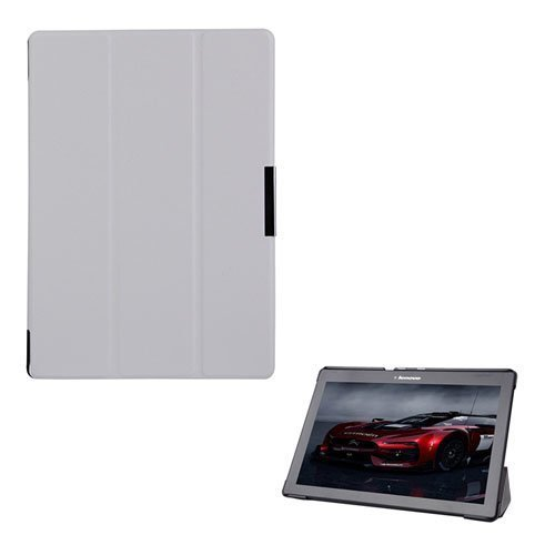 Garff Lenovo Tab 2 A10-70 Leather Case With Stand White