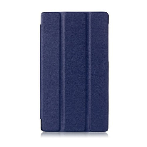 Garff Lenovo Tab 2 A7-10 Smart Fold Leather Case With Stand Blue