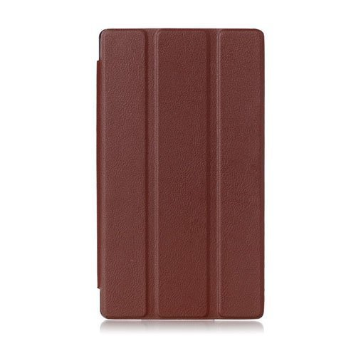 Garff Lenovo Tab 2 A7-10 Smart Fold Leather Case With Stand Brown