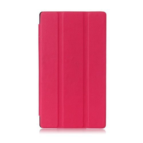 Garff Lenovo Tab 2 A7-10 Smart Fold Leather Case With Stand Hot Pink