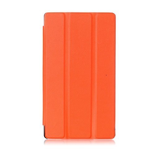 Garff Lenovo Tab 2 A7-10 Smart Fold Leather Case With Stand Orange