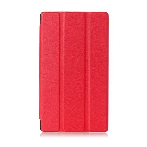 Garff Lenovo Tab 2 A7-10 Smart Fold Leather Case With Stand Red