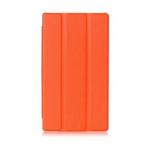 Garff Lenovo Tab 2 A7-30 Nahkakotelo Standillä Oranssi