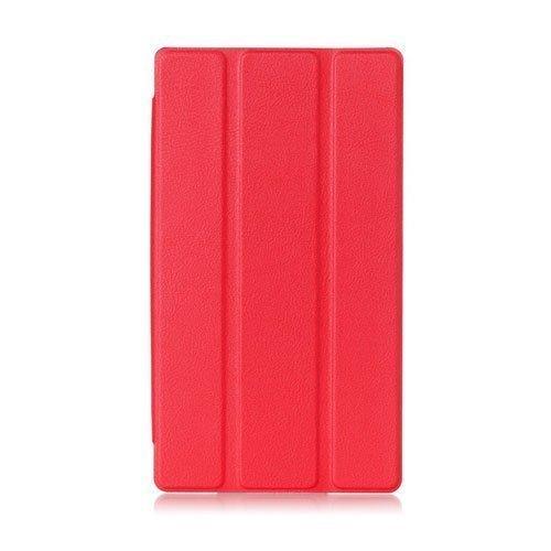 Garff Lenovo Tab 2 A7-30 Nahkakotelo Standillä Punainen