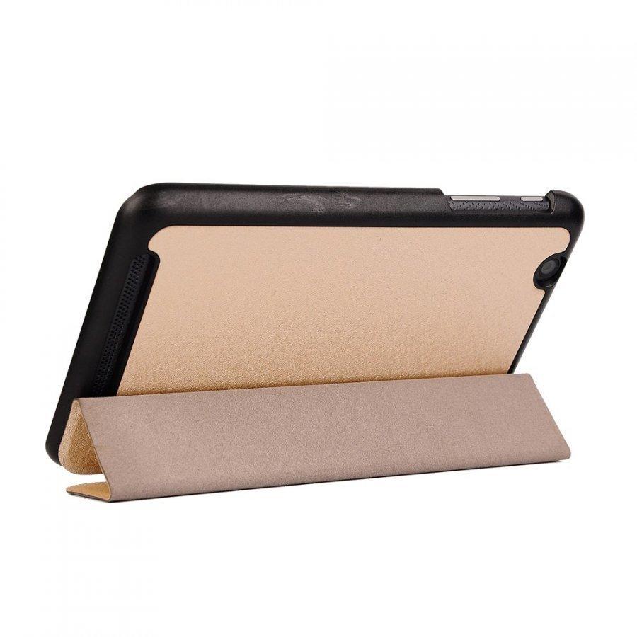 Garff Silk Acer Iconia One 7 Kolmesti Taittuva Nahkakotelo Kulta