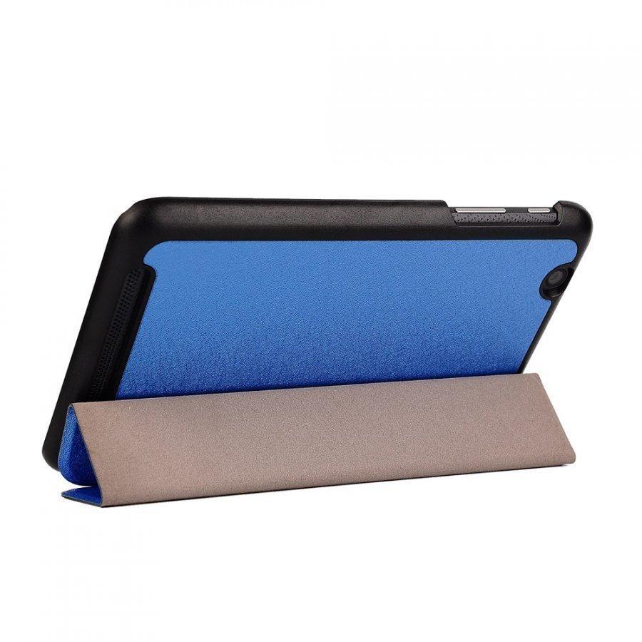 Garff Silk Acer Iconia One 7 Kolmesti Taittuva Nahkakotelo Sininen