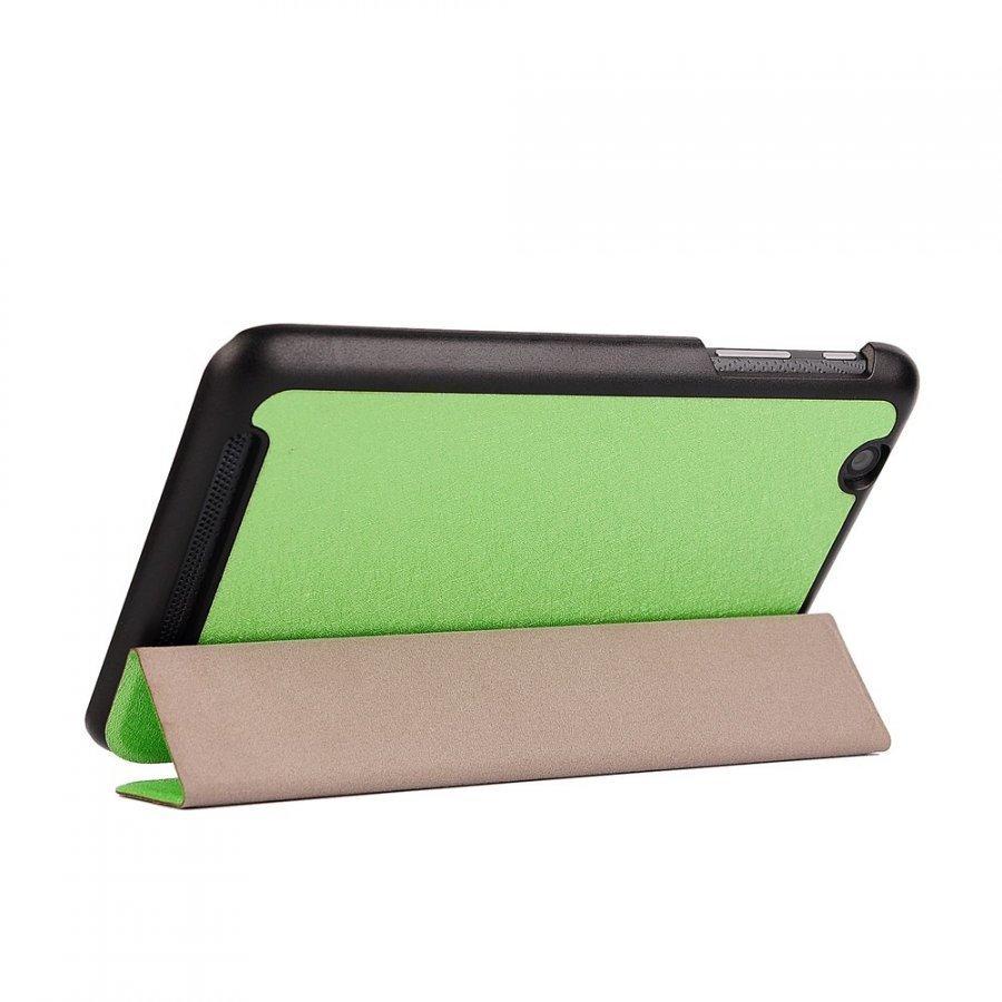 Garff Silk Acer Iconia One 7 Kolmesti Taittuva Nahkakotelo Vihreä