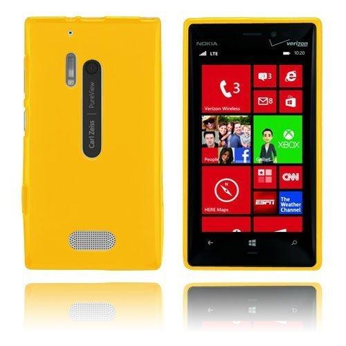 Gelcase Keltainen Nokia Lumia 928 Suojakuori