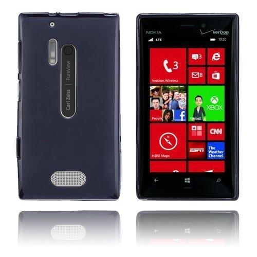 Gelcase Musta Nokia Lumia 928 Suojakuori