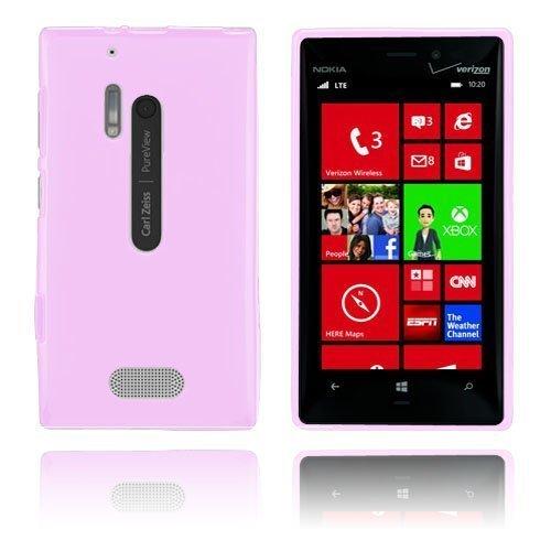 Gelcase Pinkki Nokia Lumia 928 Suojakuori