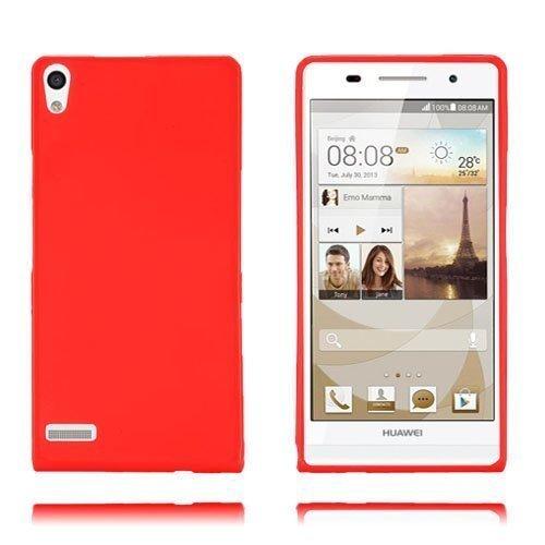 Gelcase Punainen Huawei Ascend P6 Suojakuori