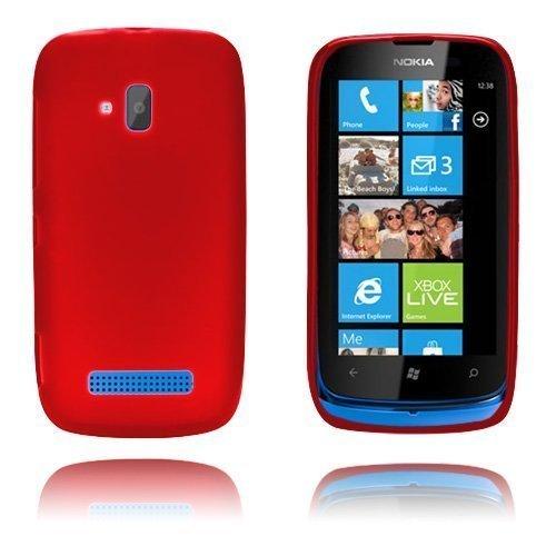 Gelcase Punainen Nokia Lumia 610 Suojakuori