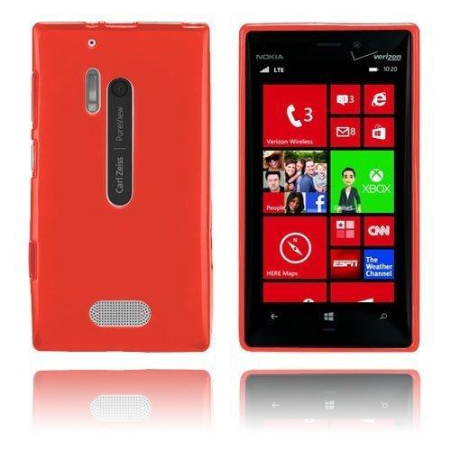 Gelcase Punainen Nokia Lumia 928 Suojakuori