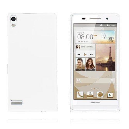 Gelcase Valkoinen Huawei Ascend P6 Suojakuori