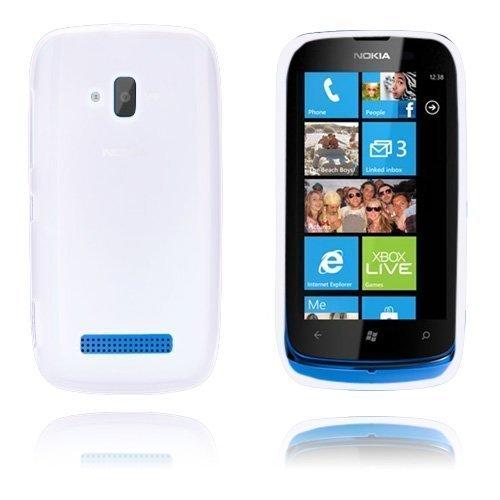 Gelcase Valkoinen Nokia Lumia 610 Suojakuori