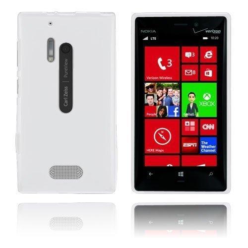 Gelcase Valkoinen Nokia Lumia 928 Suojakuori
