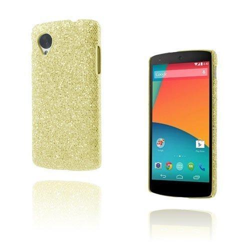 Glitter Kulta Google Nexus 5 Suojakuori