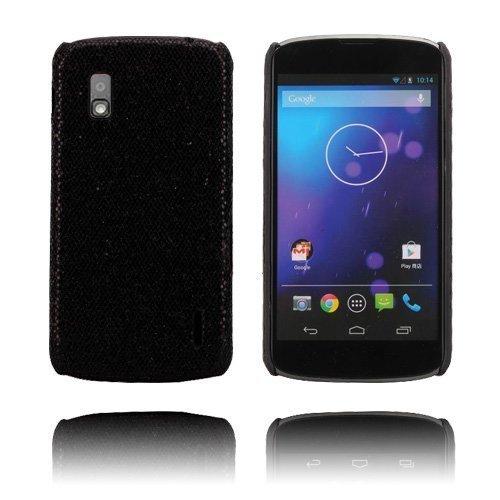 Glitter Musta Lg Google Nexus 4 Suojakuori