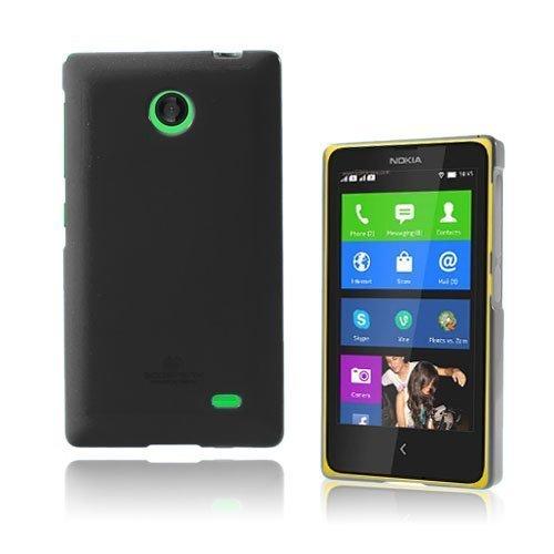 Glitter Musta Nokia X Suojakuori