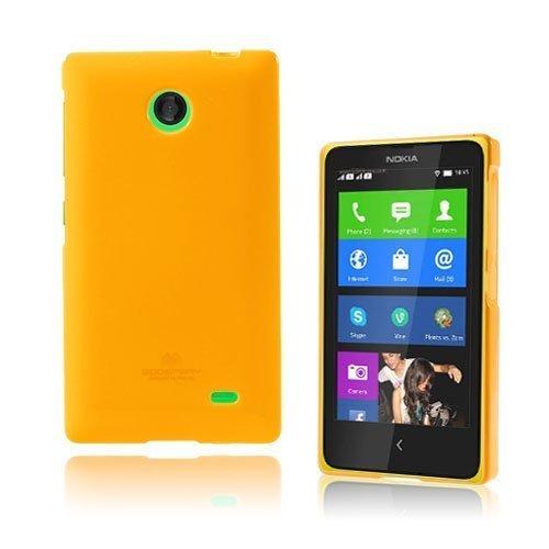 Glitter Oranssi Nokia X Suojakuori