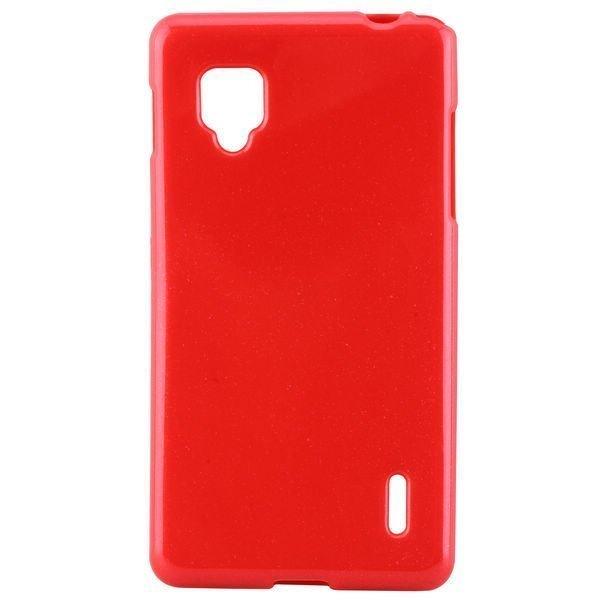 Glitter Punainen Lg Optimus G Silikonikuori