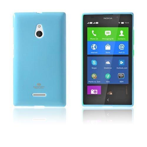 Glitter Rock Vaalea Sininen Nokia Xl Suojakuori