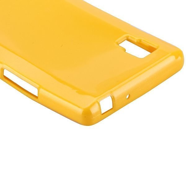 Glitter Shell Keltainen Lg Optimus L9 Silikonikuori