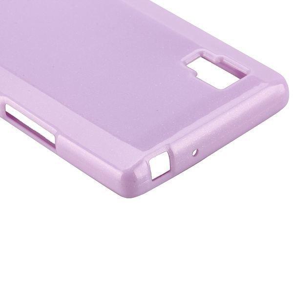 Glitter Shell Violetti Lg Optimus L9 Silikonikuori