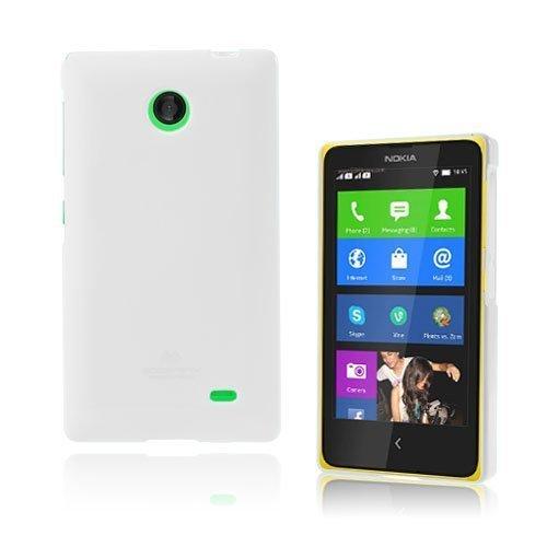 Glitter Valkoinen Nokia X Suojakuori