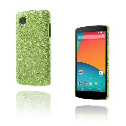 Glitter Vihreä Google Nexus 5 Suojakuori