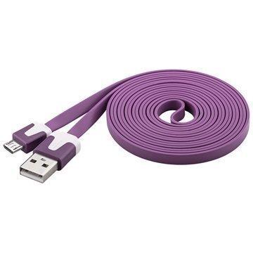 Goobay USB 2.0 / MicroUSB Litteä Kaapeli Violetti