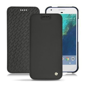 Google Pixel Noreve Tradition D Flip Leather Case Black