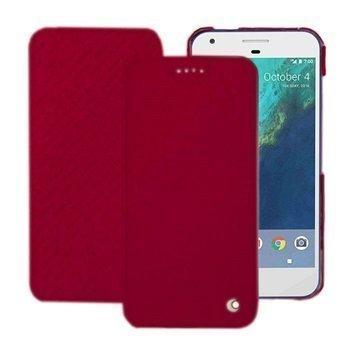Google Pixel Noreve Tradition D Flip Leather Case Punainen