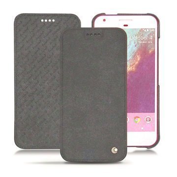 Google Pixel Noreve Tradition D Flip Leather Case Tumma Vintage