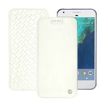 Google Pixel Noreve Tradition D Flip Leather Case Valkoinen