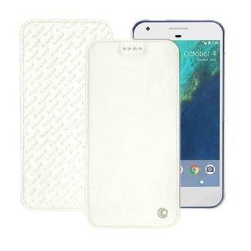 Google Pixel Noreve Tradition D Flip Leather Case Valkoinen