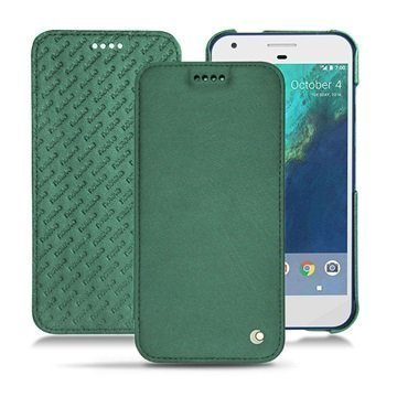 Google Pixel Noreve Tradition D Flip Leather Case Vintage mintunvihreä