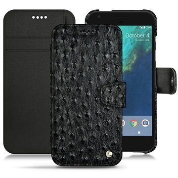 Google Pixel XL Noreve Tradition B Wallet Case Autruche Black