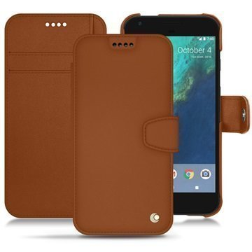 Google Pixel XL Noreve Tradition B Wallet Case Ruskea