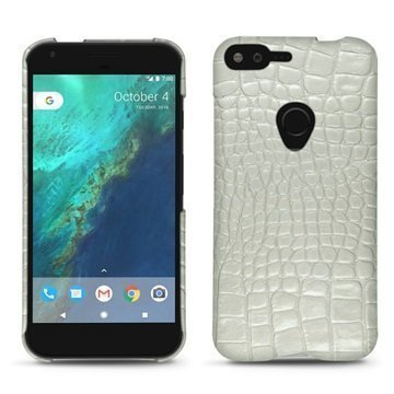 Google Pixel XL Noreve Tradition E Cover Crocodile Maidonvalkoinen