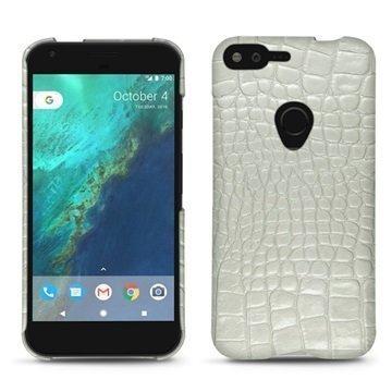 Google Pixel XL Noreve Tradition E Cover Crocodile Maidonvalkoinen