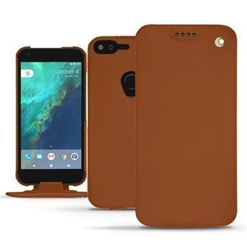 Google Pixel XL Noreve Tradition Flip Case Ruskea