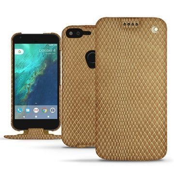 Google Pixel XL Noreve Tradition Flip Case Serpent Hiekanruskea