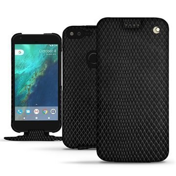 Google Pixel XL Noreve Tradition Flip Case Serpent Musta