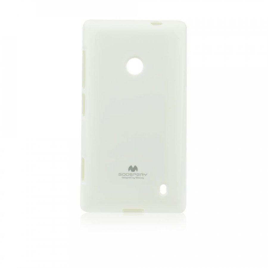 Goospery Jelly Case Nokia Lumia 630/635 Valkoinen
