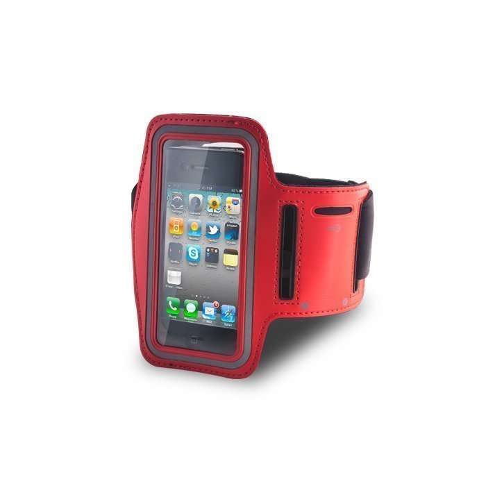 GreenGo Arm Case iPhone 4/4s Punainen